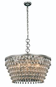 elegant lighting nordic 1219 nordic collection chandelier d 28in h 14in lt 6 antique silver finish royal cut crystals lighting etc