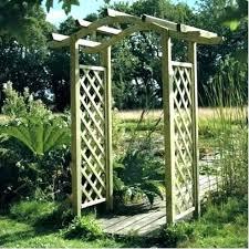enchanting wooden garden arch garden wooden garden arch kits australia