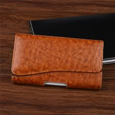 details about horizontal business men s leather cell phone pouch case cover belt loop holster