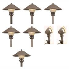 lighting sets. Wonderful Low Voltage Landscape Lighting Sets #5: Low-Voltage Bronze Outdoor Integrated LED