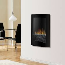 Dimplex 23-In Convex Black Wall Mounted Electric Fireplace - VCX1525