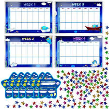 Weekly Star Chart Potty Training Reward Chart With 4x Waterproof Weekly Charts 6x Diploma 600x Colorful Stars Perfect For Multiple Toddlers Motivational Toilet