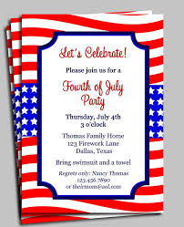 patriotic invitations templates free printable 4th of july birthday party invitation