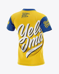 The team's colors, its logo, and the number of. Men S V Neck Football Jersey Mockup Back Half Side View In Apparel Mockups On Yellow Images Object Mockups In 2020 Design Mockup Free Mockup Clothing Mockup
