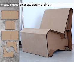 Diy cardboard furniture Handmade 5piece Cardboard Chair No Fasteners No Glue Just Friction And Slots Pinterest Pin By Dia Mue On Cardboard Furniture Cardboard Furniture