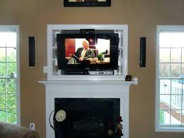 tv over fireplace with cable box over fireplace where to put components mounted
