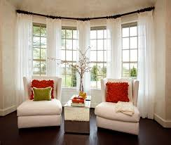 Wonderful Window Treatment Decorating Ideas Curtains Curtains On Bay Windows  Decorating Decorating Ideas For