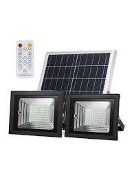 Black Light With Remote Shop Generic Solar Dual Head Flood Light With Remote Control