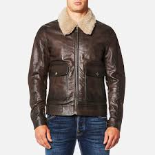 belstaff men s mentmore blouson jacket black brown image 1
