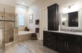bathroom remodeling southlake tx. The New Contemporary Bathroom Includes A Contrast Of Woods Between Flooring And Two Vanities. This Contributes To Gray Brown Tones Used Remodeling Southlake Tx