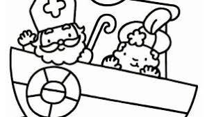 Kleurplaat Nijntje Sinterklaas