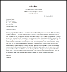 Professional Personal Support Worker Cover Letter Sample Writing