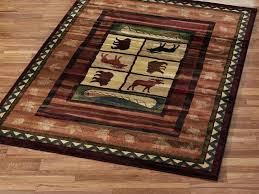 lodge style area rugs ideas cabins rug designs cabin