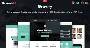 Artist Website Templates Enchanting Gravity Responsive Email Online Builder By DynamicXX ThemeForest