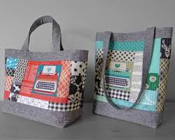 Perfect Quilted Tote Pattern by Elizabeth Hartman | Supply ... & Making these totes is the perfect way to put your scraps to work to create  beautiful, structured bags! Combine a simple quilt-as-you-go technique with  ... Adamdwight.com