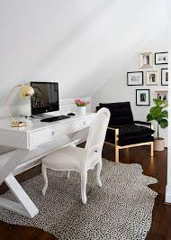 attic office ideas. View In Gallery Bright And White Attic Office Space With Bold Accents Ideas