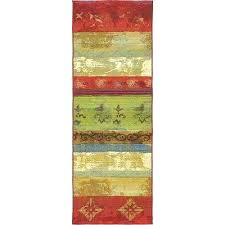 striped outdoor rug multi colored outdoor rugs outdoor multi 2 ft x 6 ft runner multi