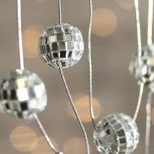 Mini Disco Ball Decorations Silver Mirrored Disco Ball Garland Christmas Garlands 29