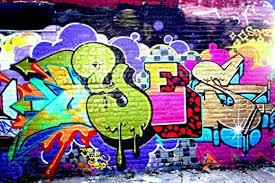 artistic graffiti wall street art a1 canvas print poster on graffiti wall art