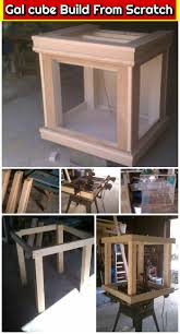 diy gal cube build from scratch diy fish tank stands plans for free