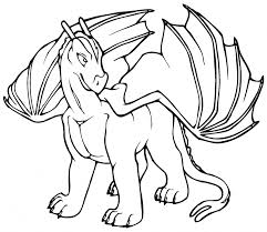 Coloring Pages Draw A Simple Dragon All Coloring Pages Dragon