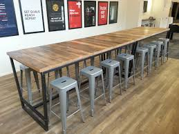 industrial wood furniture. Custom Made Reclaimed Wood And Steel Industrial High Top Conference Table Furniture T