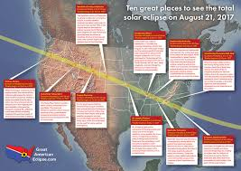 Best places to view — Total solar eclipse of Aug 21, 2017
