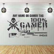 on removable wall art stickers uk with gaming wall stickers uk 100 gamer