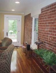 Interior Sunroom Addition with Exposed Brick Wall   Porch ideas   Pinterest    Sunroom, Bricks and Interiors