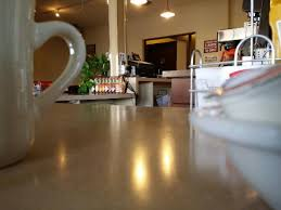 the bulldog diner the counters sure are clean look at that shine