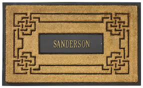 personalized front door matsPersonalized Outdoor Doormat Personalized Rubber Scroll Coir