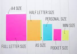 Planner Sizes The Ultimate Guide I Heart Planners