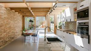 Nimtim Adds Pergolalike Extension To S Terrace In South London - 1950s house interior