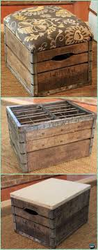Wood crate furniture diy White Wood Diy Wood Crate Ottoman Instructions Diy Wood Crate Furniture Ideas Projects Diy How To Diy Wood Crate Furniture Ideas Projects Instructions