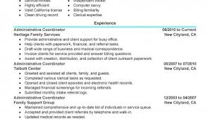 Bunch Ideas of Sample Resume Administrative Coordinator On Example