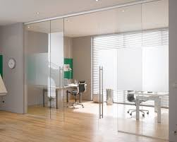 image of sliding doors blinds office