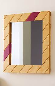 wood mirror frame. An Inexpensive Pine Board Cut Into Pieces With Mitered Ends Creates A Novel Mirror Frame. Wood Frame