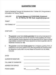 Guarantor Agreement Form Samples Free Sample Exampl On Index Of I_ ...