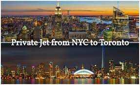 private jet from new york to toronto