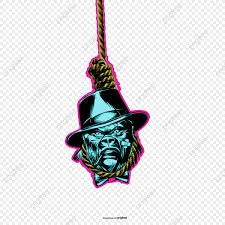 Rope Hanging Skull Bones Blue Rope Suicide Png Transparent