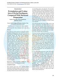 Toothpaste Abrasiveness Chart Pdf Formulation And Evalua Tion Of Herbal Toothpaste