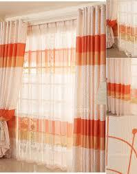 unique orange color room darkening cute window curtain ideas
