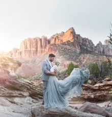 Desert Wedding Inspiration At Zion National Park Green