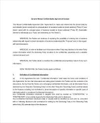 Mutual Confidentiality Agreement 100 Mutual Confidentiality Agreement Templates Free Sample 4