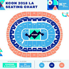 Kcon Seating Chart 2018 Kcon 2018 La Seating Chart Ticketing Links Twice