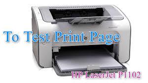 HP LaserJet Professional P1102 - Test Print Page - YouTube