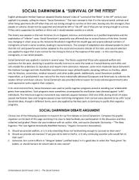 chapter reading questions social darwinism debate argument