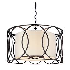 drum chandelier pendant lighting oil rubbed bronze light shade with crystals