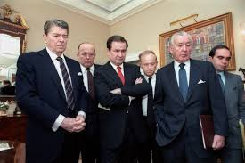 president reagan s speech to a nation reeling after challenger  president reagan and his staff watch a televised replay of the challenger disaster photo courtesy