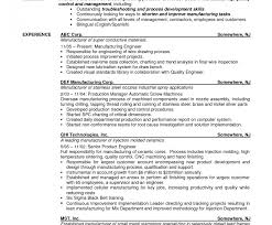 Modern Sample Resume Production Planning Control Engineer Adornment